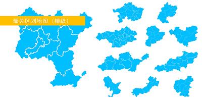 韶关市区划地图(镇街级)