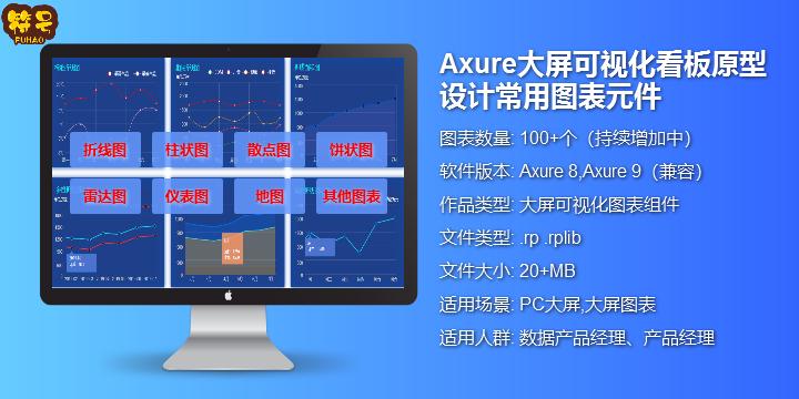 Axure大屏可视化看板原型设计常用元件+地图元件