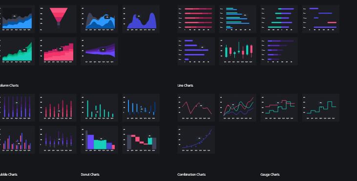 【持续更新】网站UI工具包统计图表元件模板